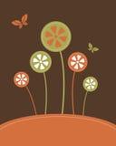 резюмируйте вектор цветков предпосылки Стоковое Фото