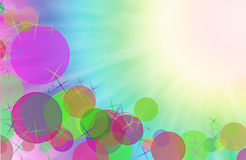 Резюмируйте влияние bokeh красочной предпосылки цифровое. Стоковые Изображения