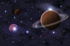 резюмируйте галактику saturn предпосылки Стоковые Фото