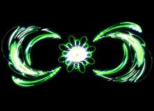 Резюмируйте загадочные зеленые свирли цветка внутри Стоковое Изображение