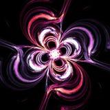 Резюмируйте загадочные накаляя свирли цветка внутри Стоковая Фотография RF