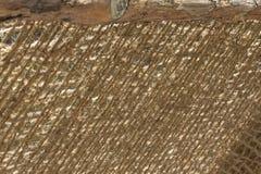 Резюмируйте запачканный взгляд прикрепленного на петлях моста с рельсом веревочки кокоса Стоковая Фотография RF