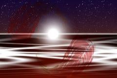резюмируйте заход солнца Стоковая Фотография RF