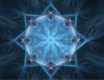 резюмируйте звезду фрактали предпосылки Стоковая Фотография