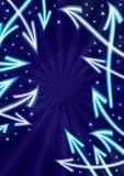 резюмируйте звезды космоса eps стрелок Стоковые Фото