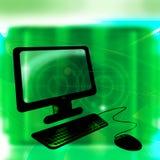 резюмируйте зеленую технологию иллюстрация вектора