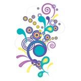 Резюмируйте картину с цветастыми свирлями иллюстрация штока