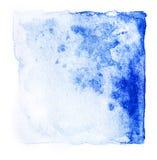 Резюмируйте краску руки тона цвета квадратной акварели свежую голубую Стоковые Фотографии RF