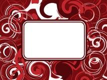 резюмируйте красную свирль Стоковые Фотографии RF