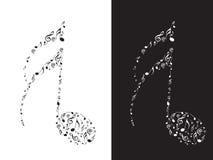 резюмируйте музыкальные примечания Стоковая Фотография
