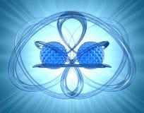 резюмируйте нанотехнологию предпосылки иллюстрация вектора