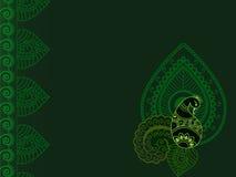 резюмируйте павлина paisley хны предпосылки Стоковые Изображения RF