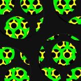 Резюмируйте пефорированный графический дизайн текстуры, черноты, зеленых и желтых Стоковая Фотография