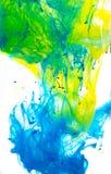 Резюмируйте покрашенные чернила в воде, покрасьте смешивать стоковая фотография