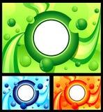 резюмируйте помеец голубого зеленого цвета предпосылки Стоковые Фотографии RF