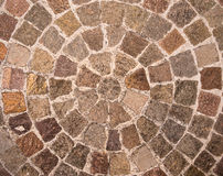 Резюмируйте предпосылку картины кругов кирпича Стоковые Изображения