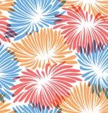 резюмируйте предпосылку флористическую Картина с декоративными хризантемами Стоковые Фотографии RF