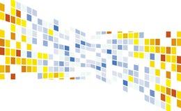резюмируйте пункты пиксела мозаики предпосылки круглые Иллюстрация штока