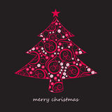 резюмируйте рождественскую елку Стоковое Изображение