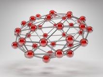 Резюмируйте сеть соединения Стоковое фото RF