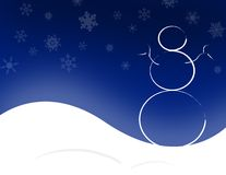 резюмируйте снеговик Стоковая Фотография