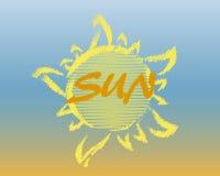резюмируйте солнце логоса Стоковая Фотография RF