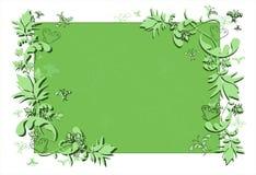 резюмируйте флористический зеленый цвет рамки Стоковая Фотография RF