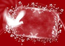 резюмируйте флористический красный цвет рамки Стоковое фото RF