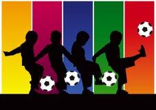 резюмируйте футбол мальчика Стоковое Изображение