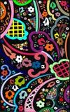 резюмируйте художническую предпосылку флористическую Стоковая Фотография