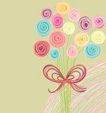 резюмируйте цветки букета иллюстрация штока