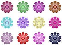 резюмируйте цветки Иллюстрация вектора
