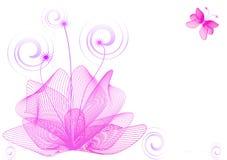 резюмируйте цветок предпосылки Бесплатная Иллюстрация