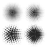 резюмируйте halftone элементов Стоковое Изображение