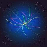 Рейс за космосом Бозон Higgs, квантовая механика Большая иллюстрация челки Предпосылка вектора абстрактная космическая Стоковое фото RF