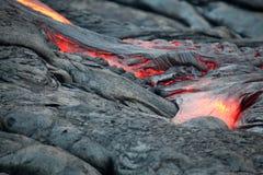 Река лавы Стоковая Фотография