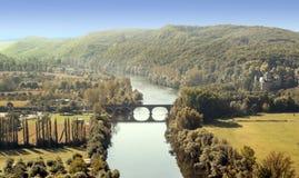 Река Аквитания Стоковое Фото