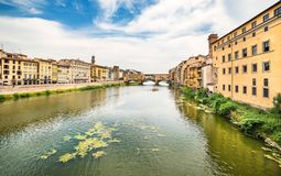 Река Арно в Флоренсе, Тоскане Стоковое фото RF