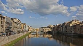 Река Арно в Флоренции Стоковые Фотографии RF