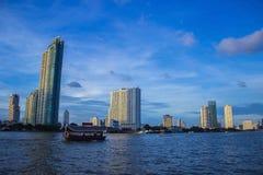 Река Бангкок Таиланд Стоковая Фотография