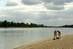 река банка Стоковая Фотография
