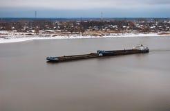 река баржи Стоковая Фотография