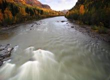 река Британского Колумбии северное tahltan Стоковые Изображения RF