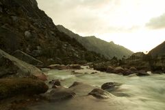 река вечера Стоковые Фотографии RF
