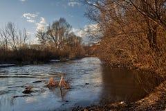 Река вечера Стоковая Фотография