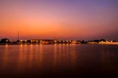 Река вечера Стоковое Изображение