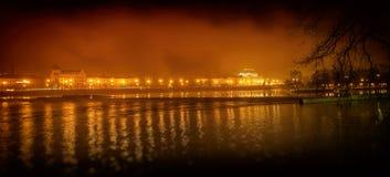 Река Влтавы и национальный театр стоковые изображения rf