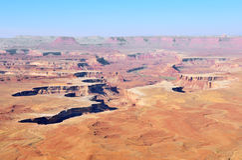 река внешнего вида canyonlands зеленое Стоковое фото RF