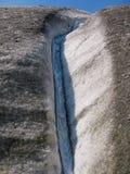 Река внутри ледник, Аляска Стоковое Фото
