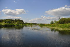 Река Воронежа, Россия Стоковое Изображение
